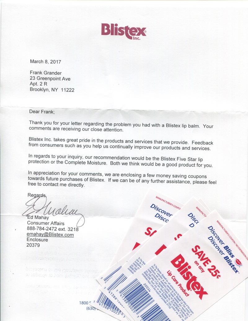 Unresolvable Complaint Letters Jeffrey Hornung