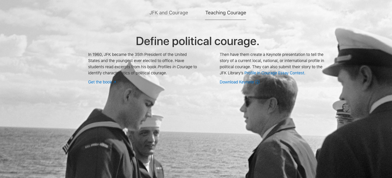 jfk essay courage